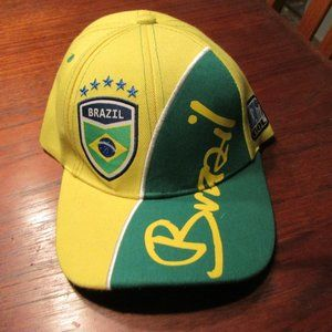 NEW Brazil Adjustable Size Soccer Futbal Hat Cap